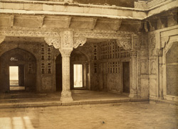 Interior of Akbar's Palace, Agra Fort.